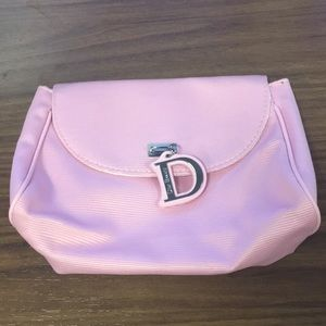 Pink Dior beauty makeup bag